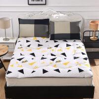 加厚床垫1.8m床1.5床褥子学生宿舍0.9睡垫1.2地垫滑海绵榻榻米T 杏色 01星海