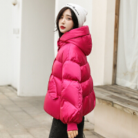 高梵羽绒服女短款韩版连帽宽松白鸭绒蓬松面包服冬季时尚保暖外套
