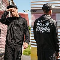 VIISHOW2018新款夹克港风复古休闲boy外套男 套头连帽潮流男士