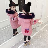 儿童棉衣2018新款冬季女孩厚款中长款棉袄外套