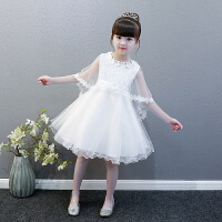 女童裙子2019新款夏儿童公主裙礼服白色连衣裙小女孩纱裙