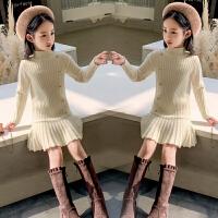 女童毛衣裙新款冬装童装中大童套头连衣裙