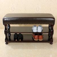 欧式鞋架换鞋凳门口试穿鞋凳玄关储物收纳凳现代实木鞋柜沙发凳