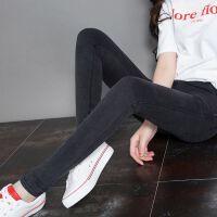 安妮纯打底裤女外穿春秋薄款2019新款显瘦韩版百搭黑色弹力铅笔小脚裤子