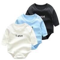 女宝宝婴儿连体衣0岁3个月春夏季新生儿睡衣薄款三角哈衣爬服夏款