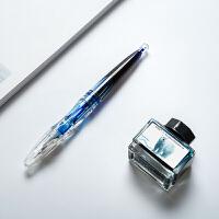 派顿透明钢笔彩色墨水示范练字学生用F12F10笔杆灌墨