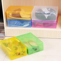 折叠塑料收纳盒透明收纳箱鞋盒鞋子盒子整理箱简易收纳鞋箱