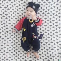 婴儿连体衣服0-1岁女宝宝男新生儿冬装春秋装3秋冬季哈衣外出服8
