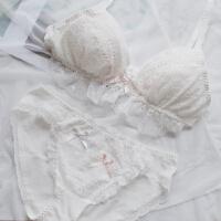 2018新款日系软妹可爱女生蕾丝无钢圈三角杯内衣性感少女甜美文胸套装