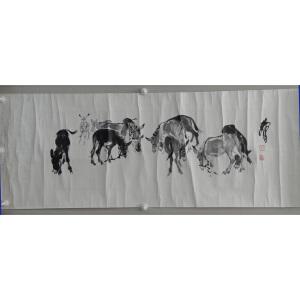 黄胄  群驴  34*104  附出版物