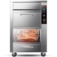 烤红薯机全自动地瓜机台式立式商用街头电热炉子玉米土豆烤箱 不锈钢电热款 128B