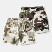 宝宝迷彩短裤儿童夏装运动裤3岁4童装男童休闲裤婴儿中裤