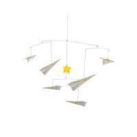 Hape小王子DIY折纸飞机风铃6岁以上婴幼玩具摇铃床铃安抚824690