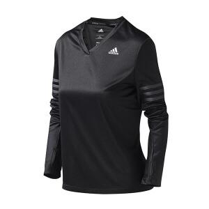 adidas阿迪达斯女装长袖T恤跑步上长运动服AX6553