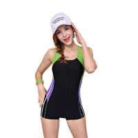 YINGFA英发 女士拼色连体平角泳衣Y1639 舒适胸垫泳衣