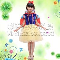 儿童装圣诞节服装迪斯尼礼服衣服秋冬女童白雪公主裙演出服