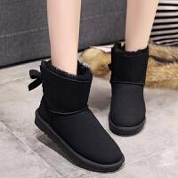 20180322220541158 雪地靴女冬季短筒韩版新款加绒中筒可爱百搭学生低帮自制短靴