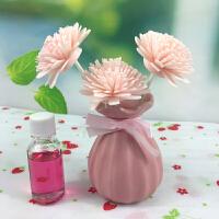 无火香薰精油檀香熏香室内卫生间厕所除臭卧室房间客厅香水瓶干花 粉红色 玫瑰香薰瓶套装 其它