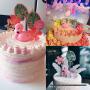 儿童生日派对创意蛋糕装饰火烈鸟生日蜡烛甜品台情景布置装饰