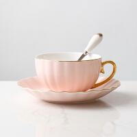陶瓷咖啡杯欧式金边咖啡杯碟勺套装英式花茶杯子家用下午茶杯套具