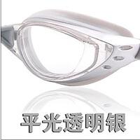 新款电镀平光/近视泳镜 大框防水防雾游泳眼镜 平
