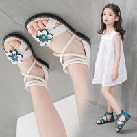 女童凉鞋儿童夏季大童女孩罗马公主鞋软底