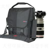 摄影包户外单肩包男女斜跨防水单反相机包700d 60d 5dgf 大号黑色