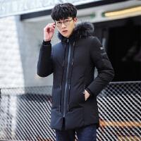 羽绒服男士外套韩版修身中长款加厚保暖衣服冬季新款潮流男装