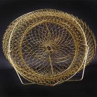 防挂折叠钢丝鱼护鱼篓网兜渔护渔网渔具钓鱼用品装鱼护网金属