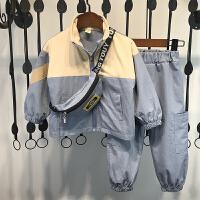 男童秋装套装加绒儿童两件套洋气潮衣