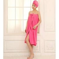 百变浴巾女可穿抹胸浴裙 比棉柔软吸水抹胸加长大浴巾 乳白色 玫粉色抹胸 90x150cm