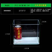 真水草小型玻璃鱼缸水族箱客厅家用桌面生态迷你金鱼缸