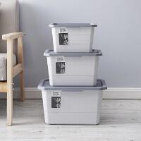 塑料收纳箱衣服储物箱衣柜大号收纳盒衣物整理箱玩具整理盒件套 大中小(三件套)