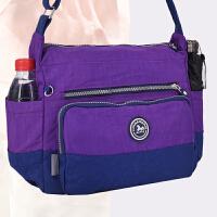 旅行包帆布包斜斜挎包中年尼龙帆布包旅游单肩包包妈妈中老年包大新款新款短途跨包