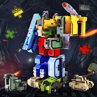 玩具数字变形玩具套装儿童拼装变形机器人金刚合体战队