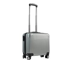 新款商务登机迷你拉杆箱18旅行箱时尚男女万向轮行李箱密码箱 浅灰色 18寸