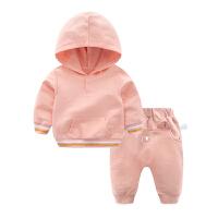 女婴儿衣服9个月3男宝宝长袖洋气套装新生儿春秋装