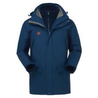 探路者(TOREAD)男士冲锋衣三合一保暖两件套 秋冬款 TAWC91552