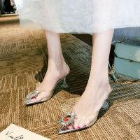 户外气质性感凉鞋时尚女鞋韩版百搭高跟鞋仙女风