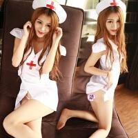 极度诱惑套装真人大码女护士夜店制服sm性感空姐睡衣 +白色花边网袜