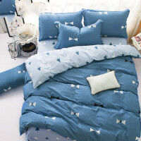 棉四件套棉被套床单2.0m床品套件1.8m床上用品1.5米 森森 1.2m(4英尺)床