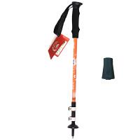 户外登山杖铝合金超轻三节杖手杖拐杖外锁伸缩拐棍旅游装备