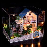 DIY小屋 创意生日礼物 天使之梦 梦幻厨房 手工拼装带灯建筑场景模型玩具情人节圣诞礼物