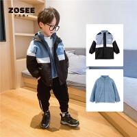 【2件5折到手价:189元】左西男童外套儿童冲锋衣两件套加厚中大童冬装2020新款洋气潮