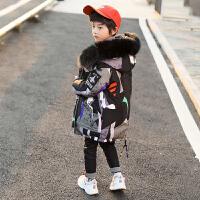 中大童装男童冬装棉衣中长款外套新款儿童羽绒棉袄