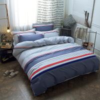 床上用品全棉四件套纯棉床单四件套1.2m1.5/1.8米北欧简约