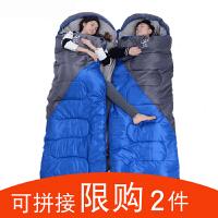 单人双人睡袋四季户外旅行秋冬季加厚隔脏室内露营野营便携式