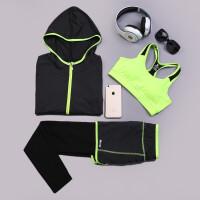 韩国瑜伽服套装秋冬三件套 宽松显瘦跑步运动健身衣服女
