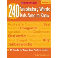 【首页抢券300-100】240 Vocabulary Words Kids Need to Know Grade 6
