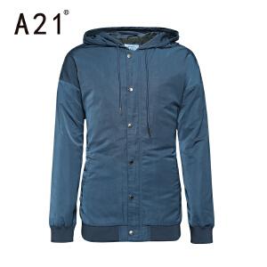以纯A21男士外套春季2017新款夹克男 休闲潮流青年长袖外套